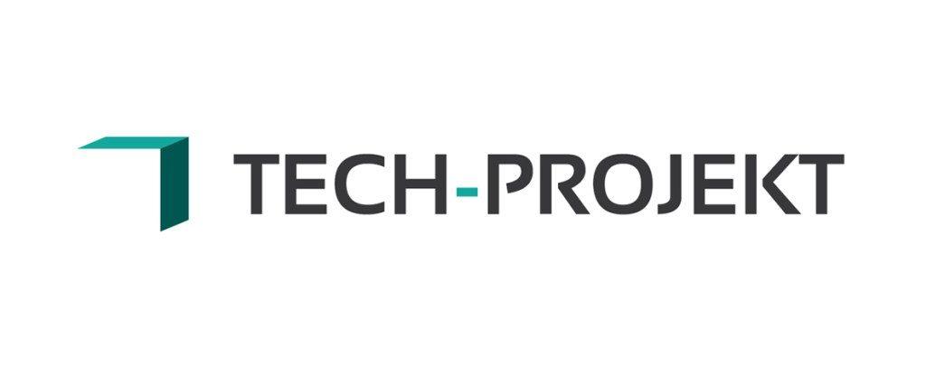 Projekt nowoczesnego logo firmy Tech-Projekt