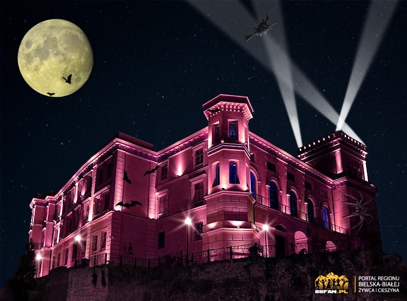 Grafika na Halloween. Widoczne logo portalu bbfan.pl