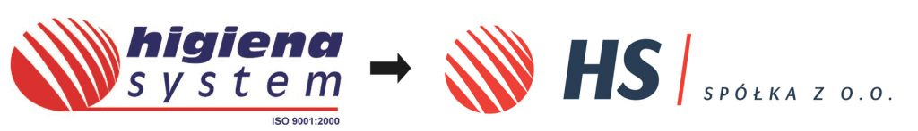 Rebranding firmy Higiena System (HS Multiservices) - rewitalizacja logo Higiena System Sp. z o.o. do HS Sp. z o.o. (obecnie HS Multiservices)