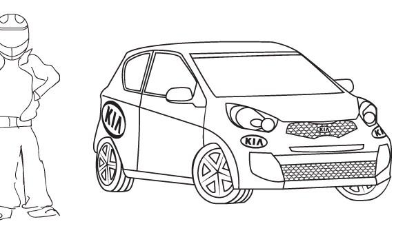 Gotowe niepokolorowane jeszcze logo dla zawodnika Kia Lotos Race
