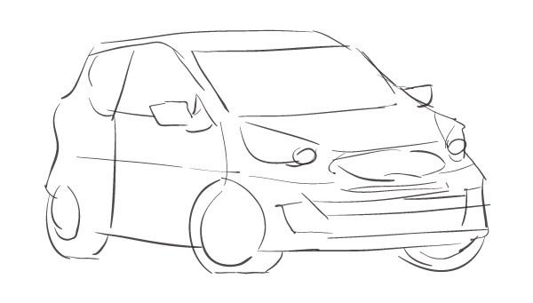Szkic projektu logo dla zawodnika Kia Lotos Race