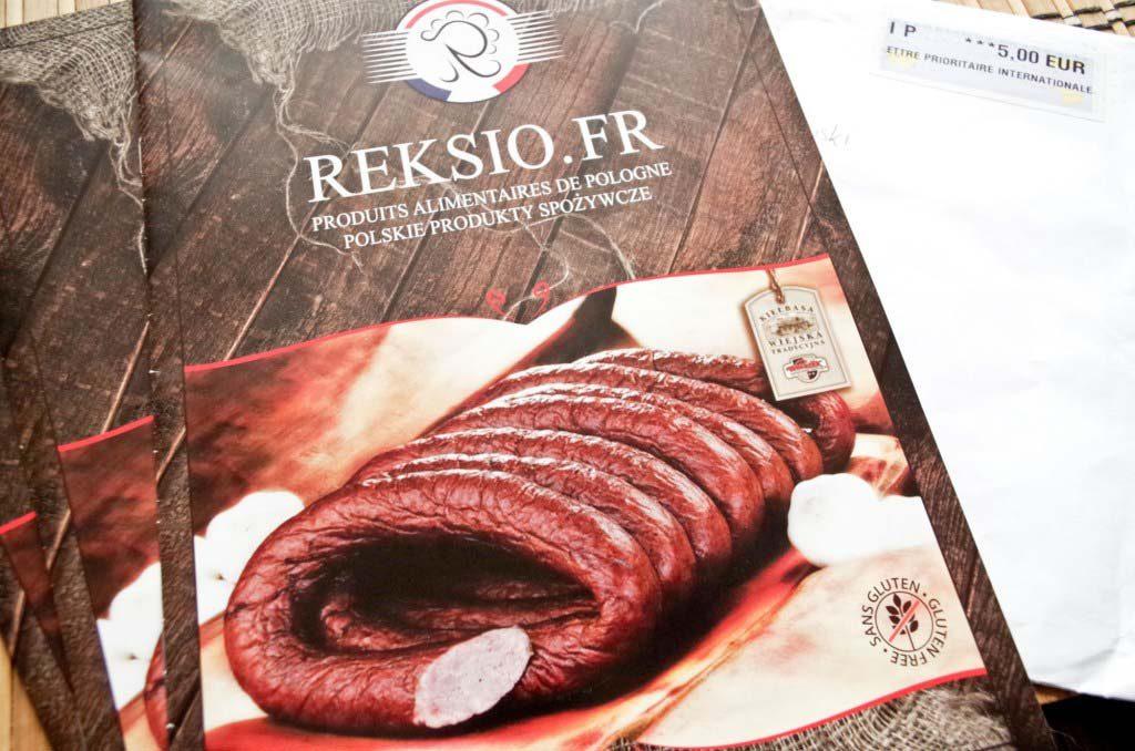 Dwujęzyczny polsko-francuski katalog polskich produktów spożywczych reksio.fr