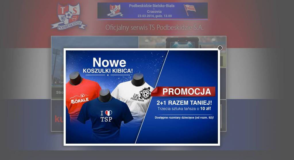 Oficjalna sprzedaż koszulek klubu TS Podbeskidzie SA.